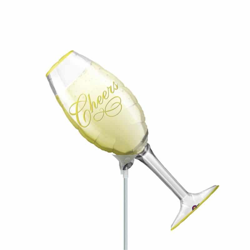 """Palloncini matrimonio Champagne Cheers MiniShape (14"""")"""