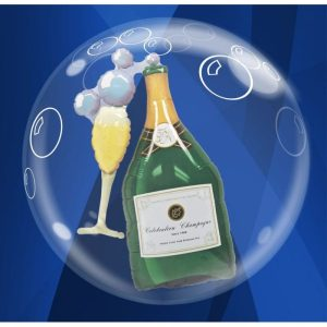 """Palloncini matrimonio Champagne Double-Bubble (24"""")"""