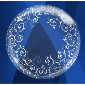 """Palloncini matrimonio Filigrane Deco-Bubble (24"""")"""