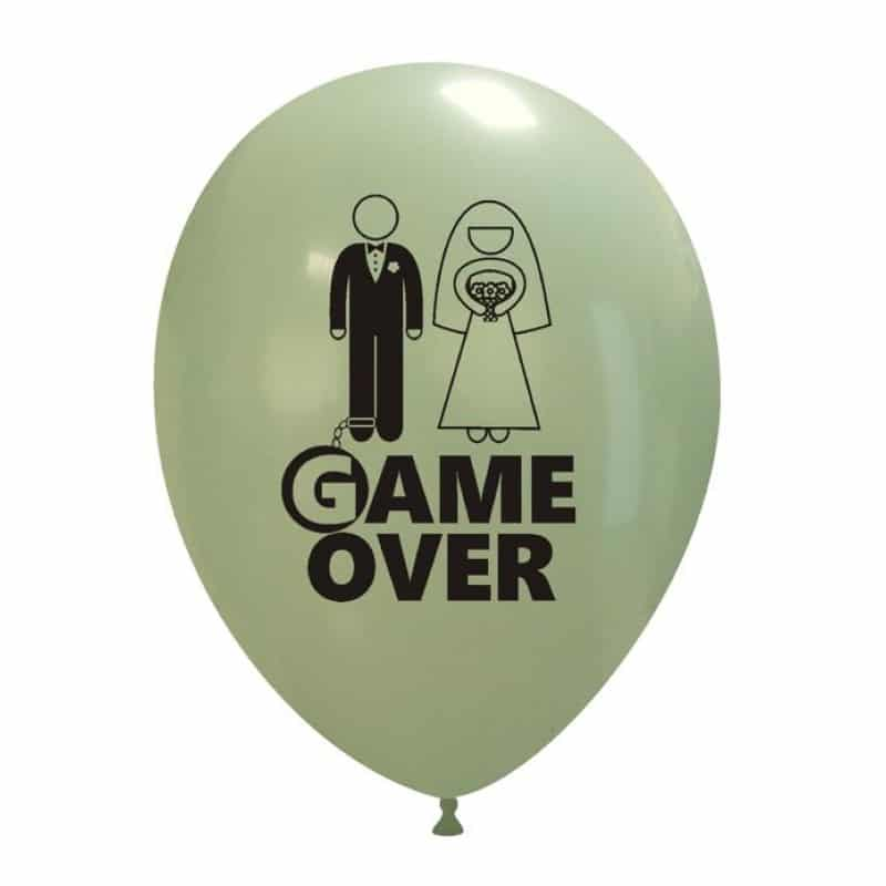 Palloncini matrimonio Game Over