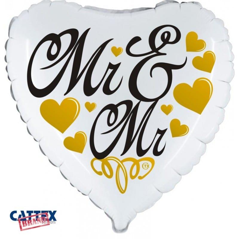 """Palloncini matrimonio Mr & Mr Cuore (18"""")"""
