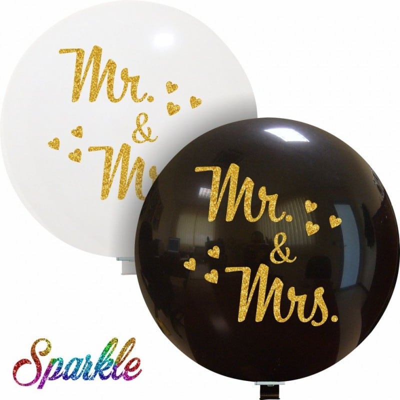 Palloncini matrimonio Mr & Mrs (Sparkle)