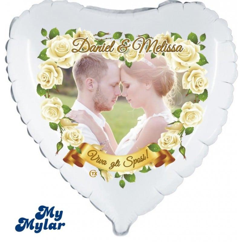 "Palloncini matrimonio MyMylar - Viva gli Sposi Foto (18"")"