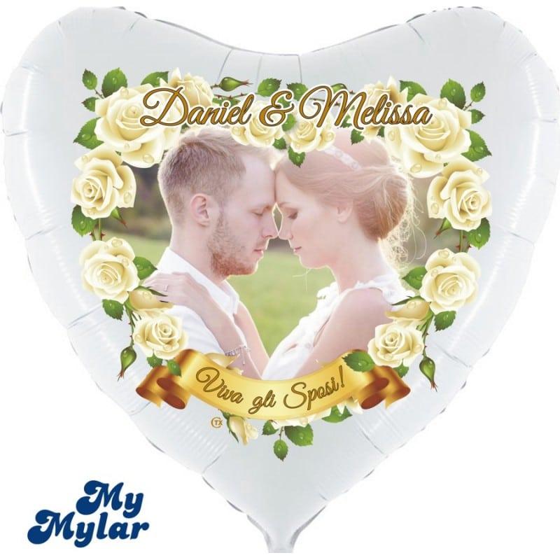 "Palloncini matrimonio MyMylar - Viva gli Sposi Foto Supershape (36"")"
