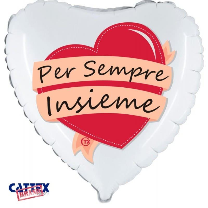 """Palloncini matrimonio Per Sempre Insieme (18"""")"""