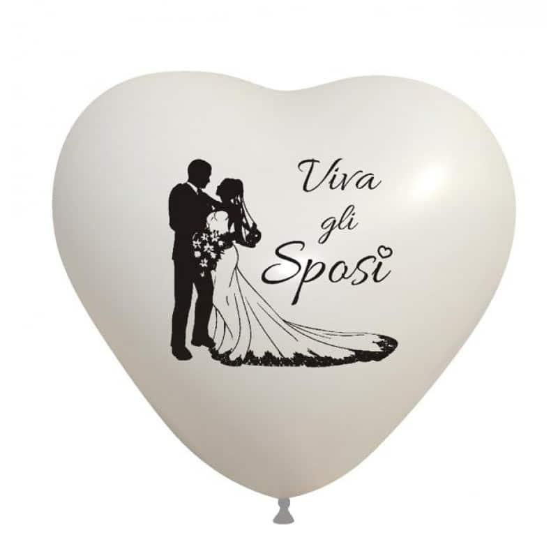 Palloncini matrimonio Silhouette Sposi