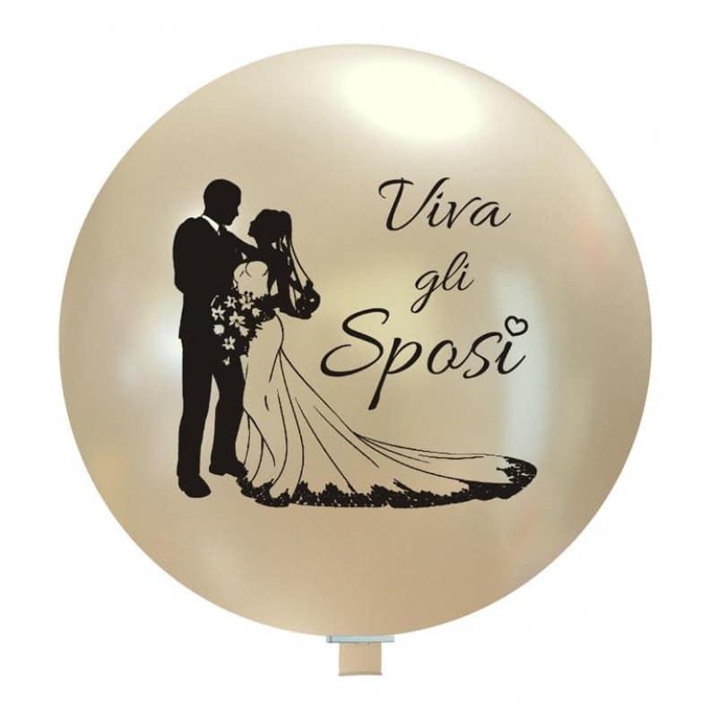 Palloncini matrimonio Sposi Silhouette