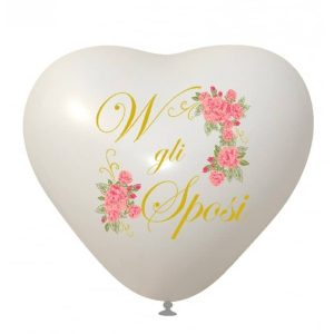 Palloncini matrimonio W gli Sposi 4 Colori