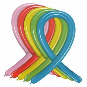 Palloncini modellabili medi colori metal