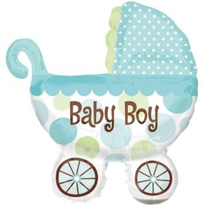 "Palloncini nascita Baby Boy Carrozzina XL® SuperShapes™ (40"")"