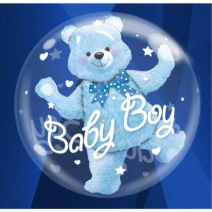 """Palloncini nascita Baby Boy Double-Bubble (24"""")"""