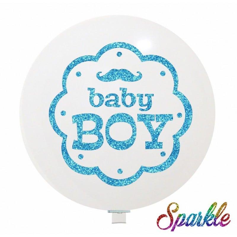 Palloncini nascita Baby Boy (Sparkle)