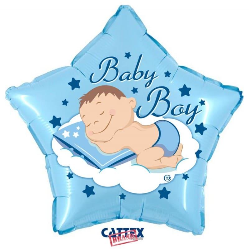 "Palloncini nascita Baby Boy Stella (18"")"