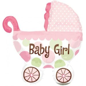 "Palloncini nascita Baby Girl Carrozzina XL® SuperShapes™ (40"")"