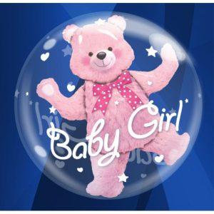 """Palloncini nascita Baby Girl Double-Bubble (24"""")"""