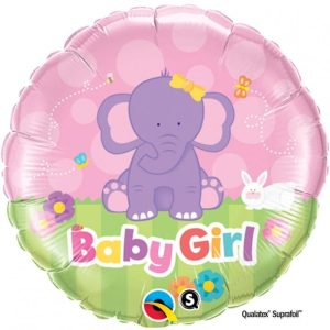 """Palloncini nascita Baby Girl Elefantino (18"""")"""