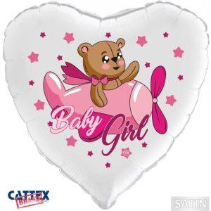 """Palloncini nascita Baby Girl Orsetto (18"""")"""