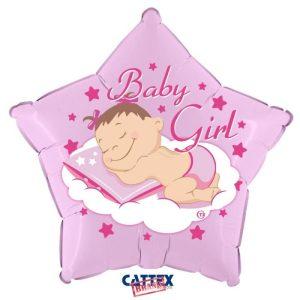 "Palloncini nascita Baby Girl Stella (18"")"