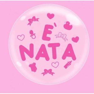 """Palloncini nascita Bubble Party - è Nata (18"""")"""