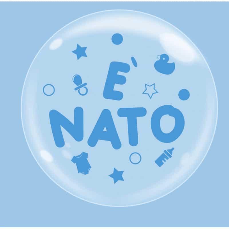 """Palloncini nascita Bubble Party - è Nato (18"""")"""