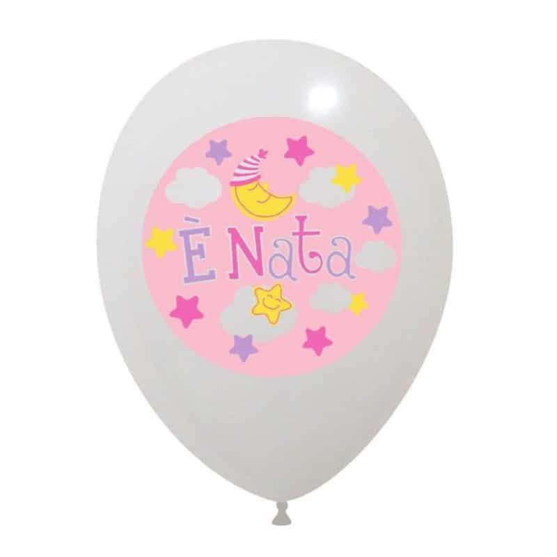 Palloncini nascita E' Nata (4 Colori)
