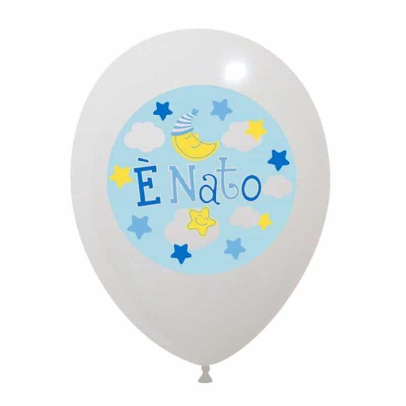 Palloncini nascita E' Nato (4 Colori)