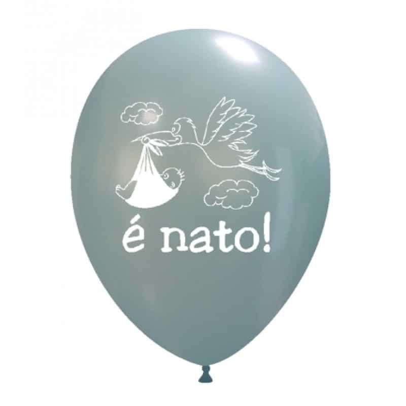Palloncini nascita E' Nato (cicogna)