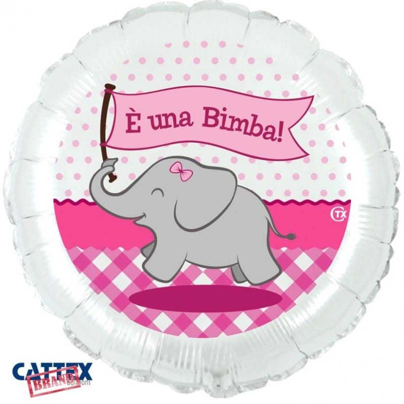 "Palloncini nascita Elefantino è una Bimba! (18"")"