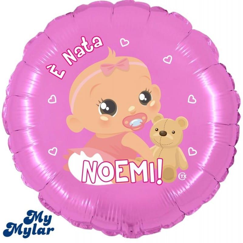 "Palloncini nascita MyMylar - È Nata + Nome (18"")"