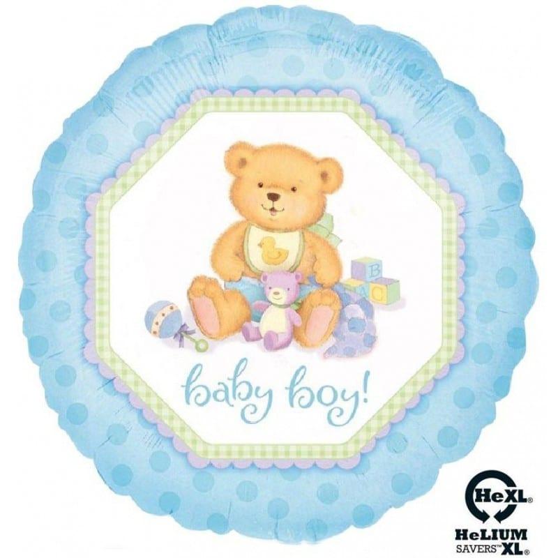 """Palloncini nascita Orsacchiotto Baby Boy HeXL® (18"""")"""