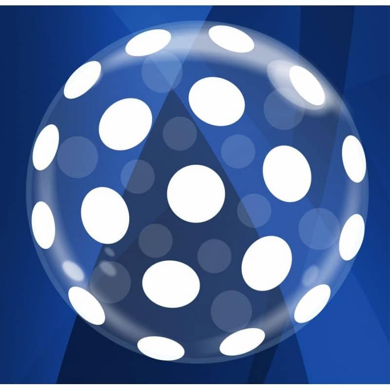 """Palloncini nascita Pois Deco-Bubble (20"""")"""