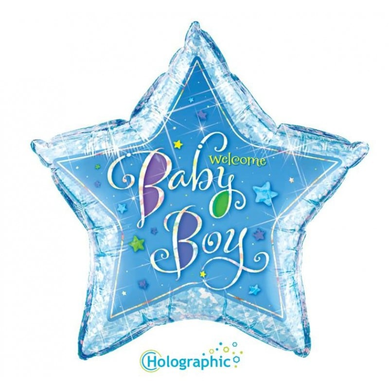 "Palloncini nascita Welcome Baby Boy Stella (36"")"