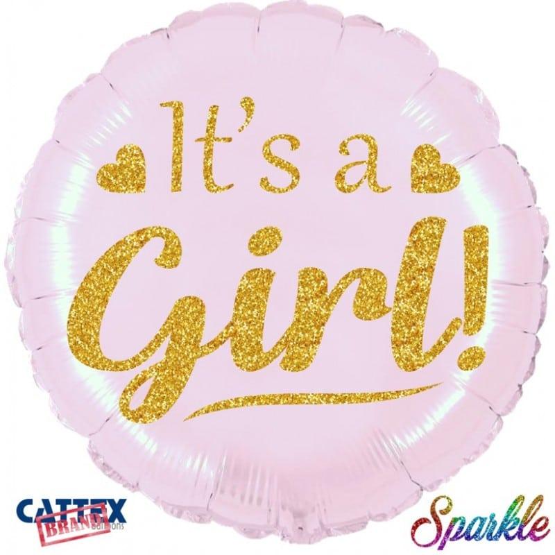 """Palloncini nascita aby Girl Sparkle (18"""")"""