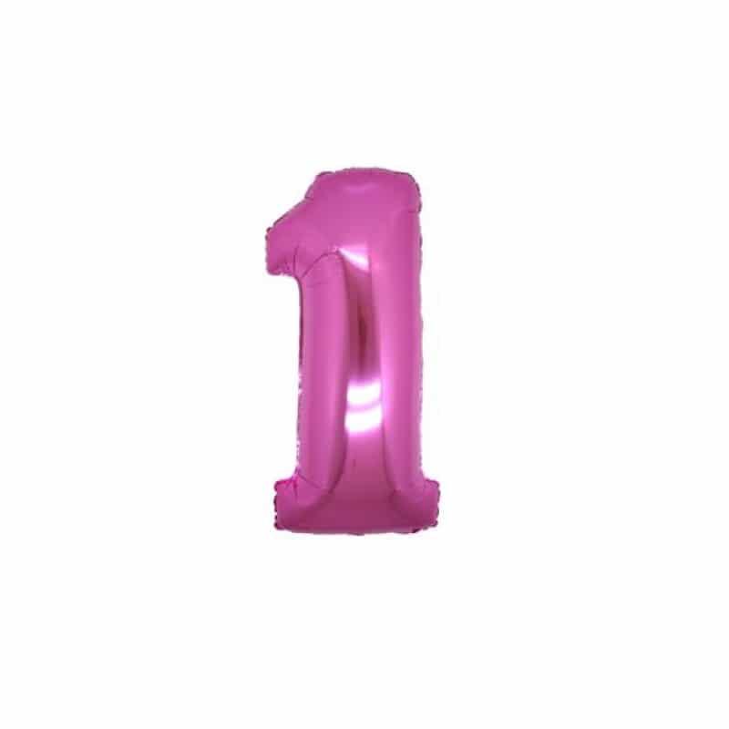 Palloncini numeri mylar piccoli -Numero 1