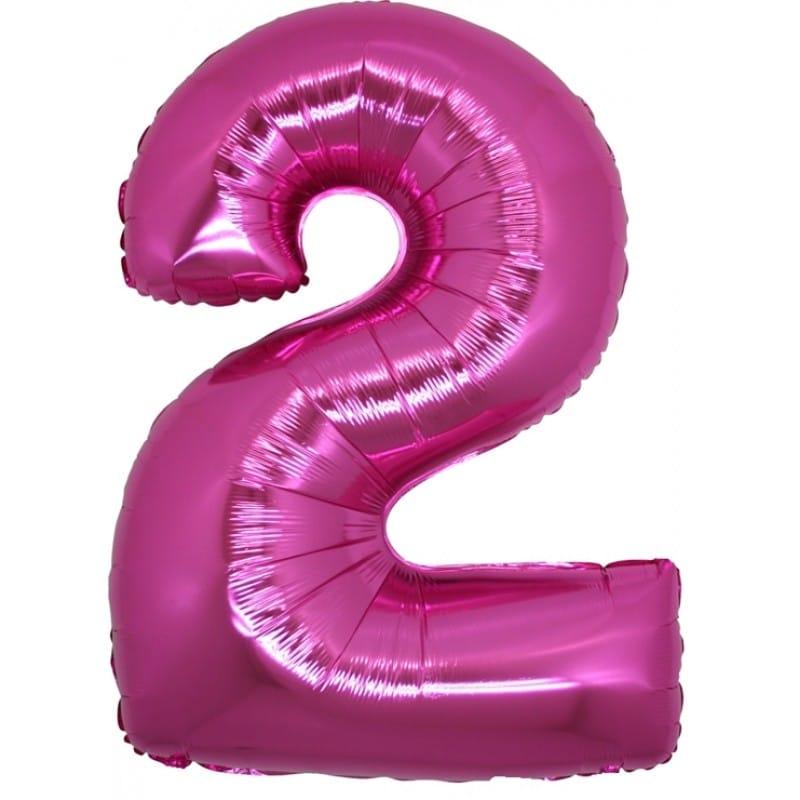 Palloncini numeri mylar grandi -Numero 2 Grandi