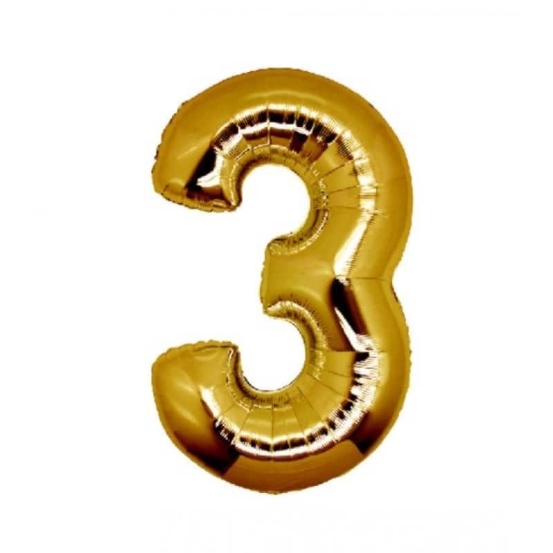 Palloncini numeri mylar medi -Numero 3