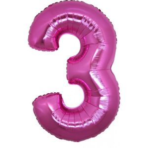 Palloncini numeri mylar grandi -Numero 3 Grandi