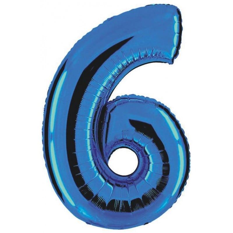 Palloncini numeri mylar grandi -Numero 6 Grandi