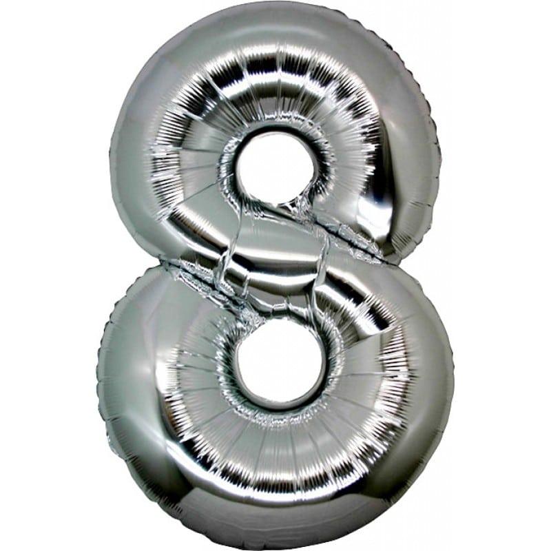 Palloncini numeri mylar grandi -Numero 8 Grandi