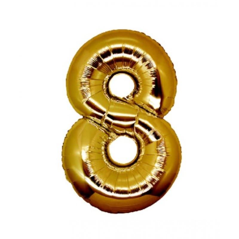 Palloncini numeri mylar medi -Numero 8