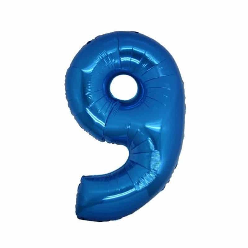 Palloncini numeri mylar medi -Numero 9