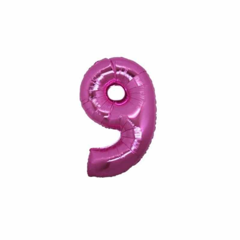 Palloncini numeri mylar piccoli -Numero 9