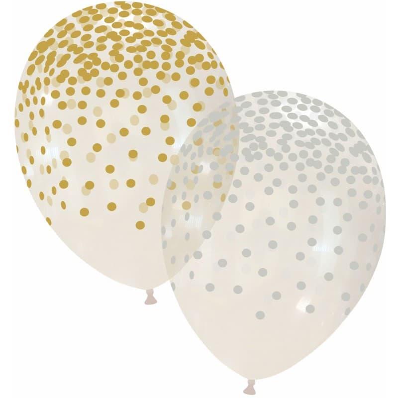 Palloncini stampa globo - pioggia di coriandoli (oro & argento)