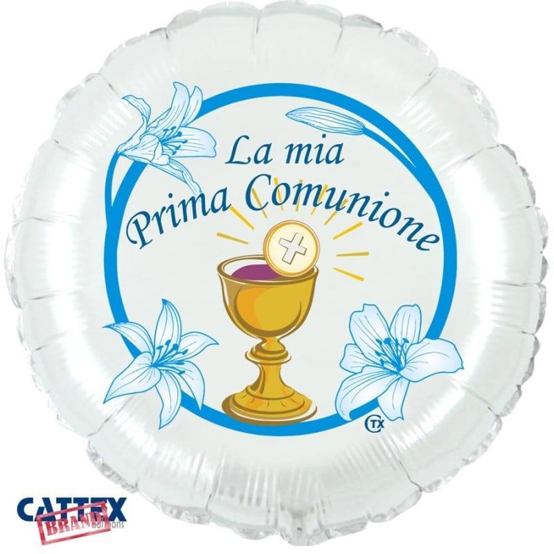 """Palloncini mylar religiosi Prima Comunione Blu (18"""")"""