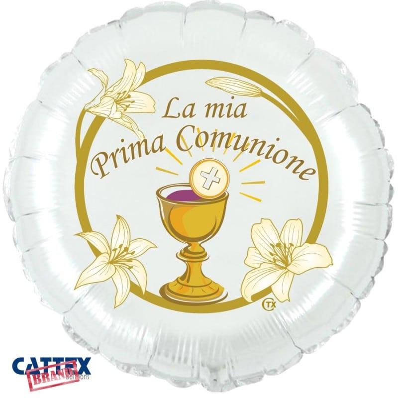 """Palloncini mylar religiosi Prima Comunione Calice (18"""")"""