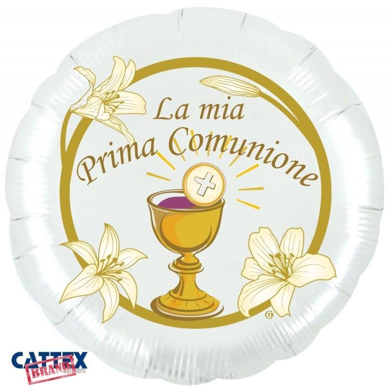 """Palloncini mylar religiosi Prima Comunione Calice (28"""")"""