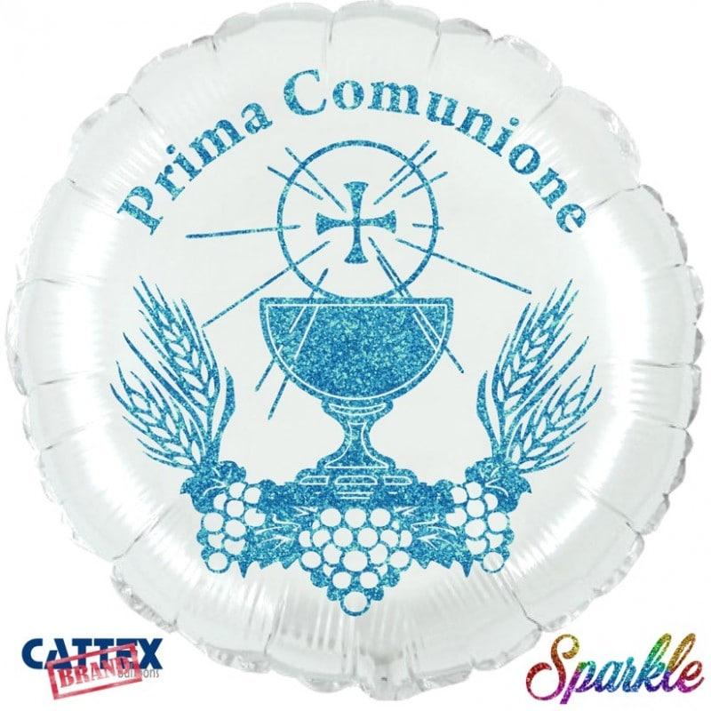 """Palloncini mylar religiosi Prima Comunione Sparkle Blu (18"""")"""