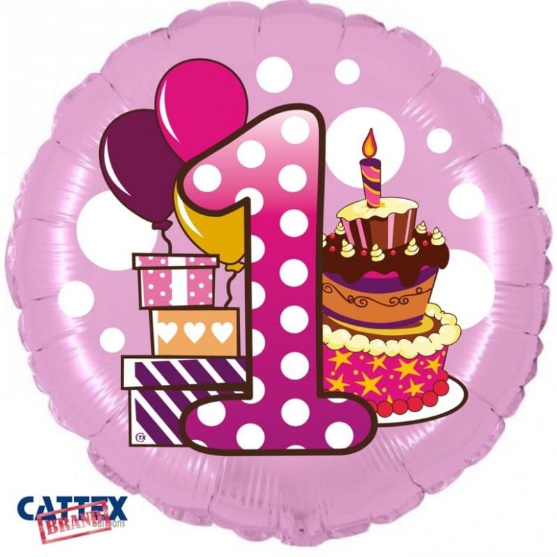"""Palloncini compleanno Primo Compleanno Bimba (18"""")"""