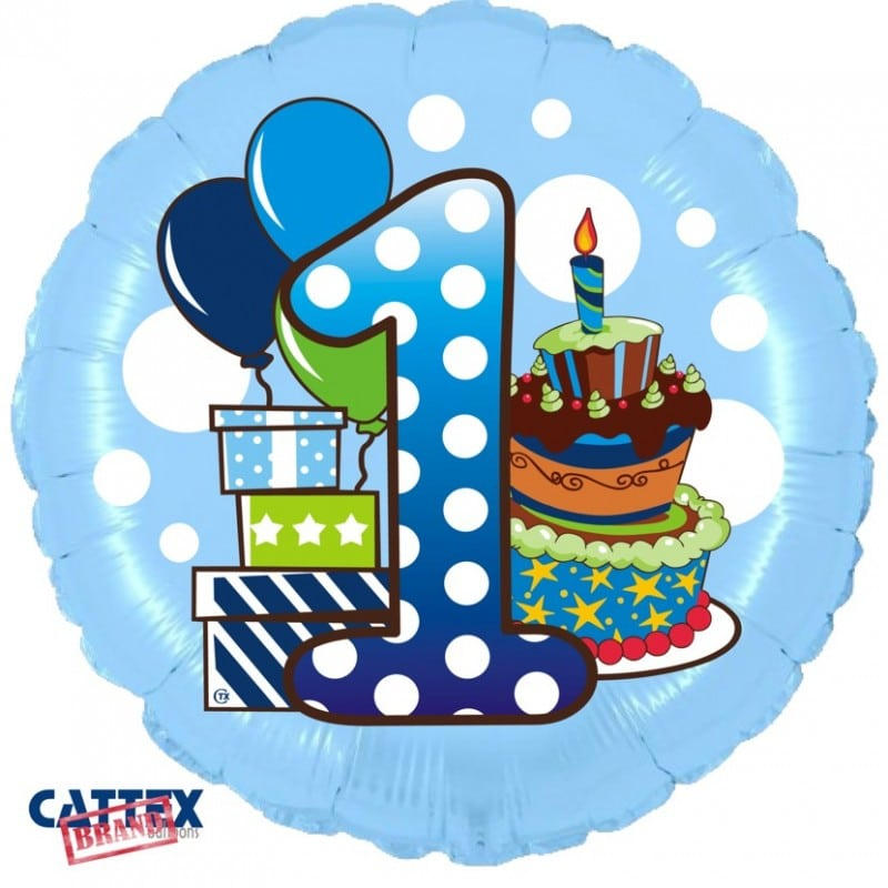 """Palloncini compleanno Primo Compleanno Bimbo (18"""")"""