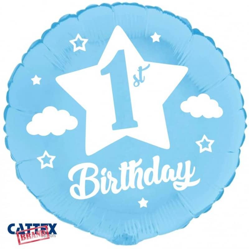 """Palloncini compleanno Primo Compleanno Blu Baby (18"""")"""